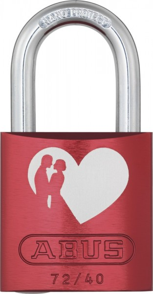ABUS Vorhängeschloss 72/40 Love Lock
