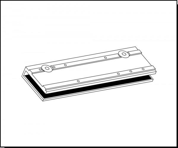 Glasklemmschuh für den Türschließer GEZE TS2000 NV und TS3000